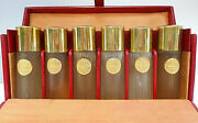 D´orsay Antique 1920s Set Of Six Collectible Glass Perfume Bottles In Fitted Box