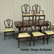 62309 Antique Mahogany Dining Table W/ 6 Chair S Top 72 X 42