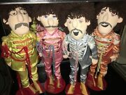 Beatles Sgt Pepper Collectible Applause 22andrdquo Plush 1988 4 Dolls