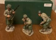 King And And Country Dd033 Dd33 Ww2 Wwii Us 3rd Infantry 3 Man Attack Patrol