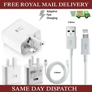 Samsung Fast Charger Plugand 1m Micro Usb Data Cable For Galaxy Phones Lot