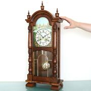 Hermle Mantel Top Clock Vintage Mini Baby Grandfathers Chime Rarity Wood Germany