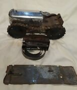 Early Marx Climbing Tractor Wind-up Tin/chrome For Parts Hobbyist No Driver