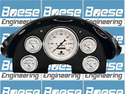 1956 Ford Fairlane Gauge Adapter Rings Kit W/ Auto Meter Old Tyme White Gauges
