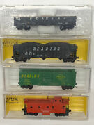 N Scale Reading Freight Car Lot With Micro Trains Knuckle Couplers
