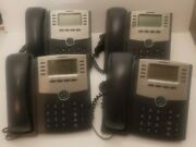 4 Cisco Ip Business Phones Spa508g With Saddles