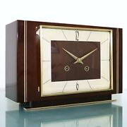 Hermle Mantel Top Clock Iconic Vintage High Gloss 1966 Serviced Chime Germany