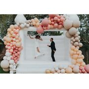 4x4m-13x13ft Outdoor Inflatable Wedding Jumper Bouncer White Party Castle House