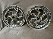 Rc Components 17andrdquo Shifter Chrome Wheels - 99-07 Suzuki Hayabusa - Front And Rear