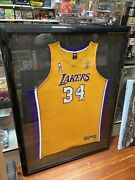 Shaquille Oandrsquoneal Signed Jersey Uda /134 Framed Los Angeles Lakers