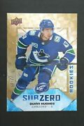 2019-20 Ud Ice Quinn Hughes Subzero Rookie Rc Gold 18/24 Vancouver Canucks
