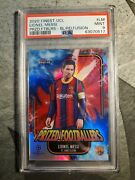 Topps Finest Uefa Lionel Messi Prized Footballers Fusion Blue/red 13/45 Psa 9