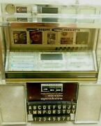 Vintage Original Seeburg Consolette Wallbox Jukebox And Key Tall 14 In Made Usa