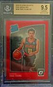 Trae Young 2018-19 Donruss Optic Rated Rookie Fast Break Red /85 198 Bgs 9.5