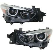 Headlight Lamp Left-and-right Ma2502149 Ma2503149 Lh And Rh For Mazda 3 Sport