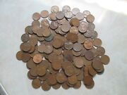 Lot Of 175 Each 1940's Lincoln Wheat Cents Pennies Unsearched