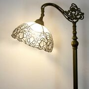 Style Floor Lamp Crystal Beans Stained Glass Vintage 64 Tall Decoration