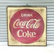 60s Vintage Coca-cola Large Sign Plate Oversized Rare Item Collectibles
