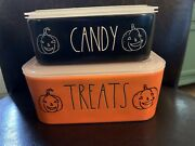 Rae Dunn Halloween Treats And Candy Ceramic Food Storage Containers Pumpkins