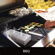 Stainless Steel Meat Smoking Barbecue Smoker Box For Bbq Wood Chips On Gas Grill