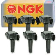 6 Pcs Ngk 48690 Ignition Coil For U5244 Ic606 178-8440 Uf526 8415194 E1026 Me