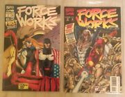 Force Works Number 1 And 2 Marvel Comics Iron Man Spider-woman Scarlet Witch - Vgc