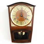 Hermle Haid Wall Vintage Top Clock Iconic High Gloss 3 Bar Chime Germany 1960and039s