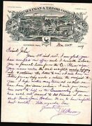 1889 Mansfield Ohio - Aultman And Taylor Co - Threshers And Horse Powers Letter Head