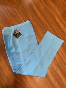 New Ming Wang Mp02 Plus 2x Knit Straight Ankle length Blue Pull On Pants T222