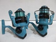 Lot Of 2 Shakespeare Ugly Stik Hi-lite Blue Spinning Reels New Off Combos
