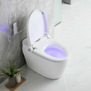 Elongated One Piece Toilet Smart Dual Flush W/ Quiet Close Seat, Comfort Height