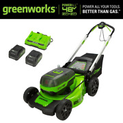 20 In. 48-volt 2x 24-volt Battery Cordless Walk-behind Push Lawn Mower With 2