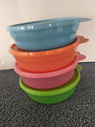 4 Tupperware Bowls 2415b With Lids 2541d - Microwave Reheatable - Excellent