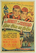 Gold Coin Silver Antique Coins Here Come The Co-eds Original Movie Poster. 1945.