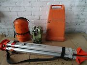 Wild Heerburgg Model T1 Theodolite With Hard Case Survey Level And Stand Very Nice