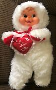 Vintage Rushton Soft Touch 22 Rubber Face Doll Puppy Valentine I Love You