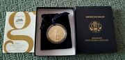 2006-w American Eagle One Ounce 1oz Gold Burnished Coin W/ Coa And Box Z6a