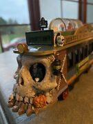 """Lemax Spooky Town """"trolley"""" Train Set Jekyll And Hydeline Caboose Rare - Halloween"""