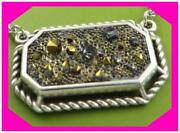 Brighton Crystal Rocks Medley Gold Silver Small Pendant Necklace Nwotag 68