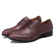 Fashion Men Genuine Leather Oxfords Business Dress Formal Shoes Prom Wed