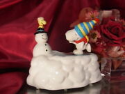 Snoopy Ride The Snowman Woodstock And Skate Skater Waltz Willitts Music Box Made