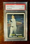 1957 Topps🥎 Mickey Mantle 🥎 95 Centered 🥎 No Snow Psa 5