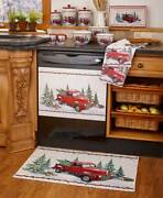 Holiday Seasonal Vintage Red Truck Country Kitchen Collection Separates Or Set