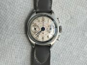 Gallet Small Size Cronograph Ep42 All Stainless Steel Original Dial. 1945