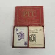 Vintage Parker Brothers Pit Bull And Bear Edition Card Game, Complete