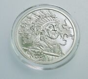 1 Oz Silver Shield Conscientia And039peace Pipeand039 Coin W/ Boxand Coa-low Mintage .999 Bu