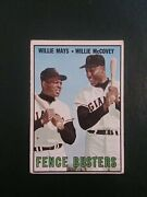 1967 Topps 423 Willie Mays/willie Mccovey Fence Busters No Creases Itema