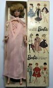 Showa 37 1962 Barbie Dolls Mattel Box Costume With Earring Stand Vintage