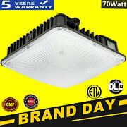 70w Led Canopy Light Commerical Use, Outdoor Gas Station Square Ip65 Led Lights