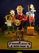 Wind-up Tin Toy Tucher Walther Bourbon Street Skiffle Band Orchestral Musician